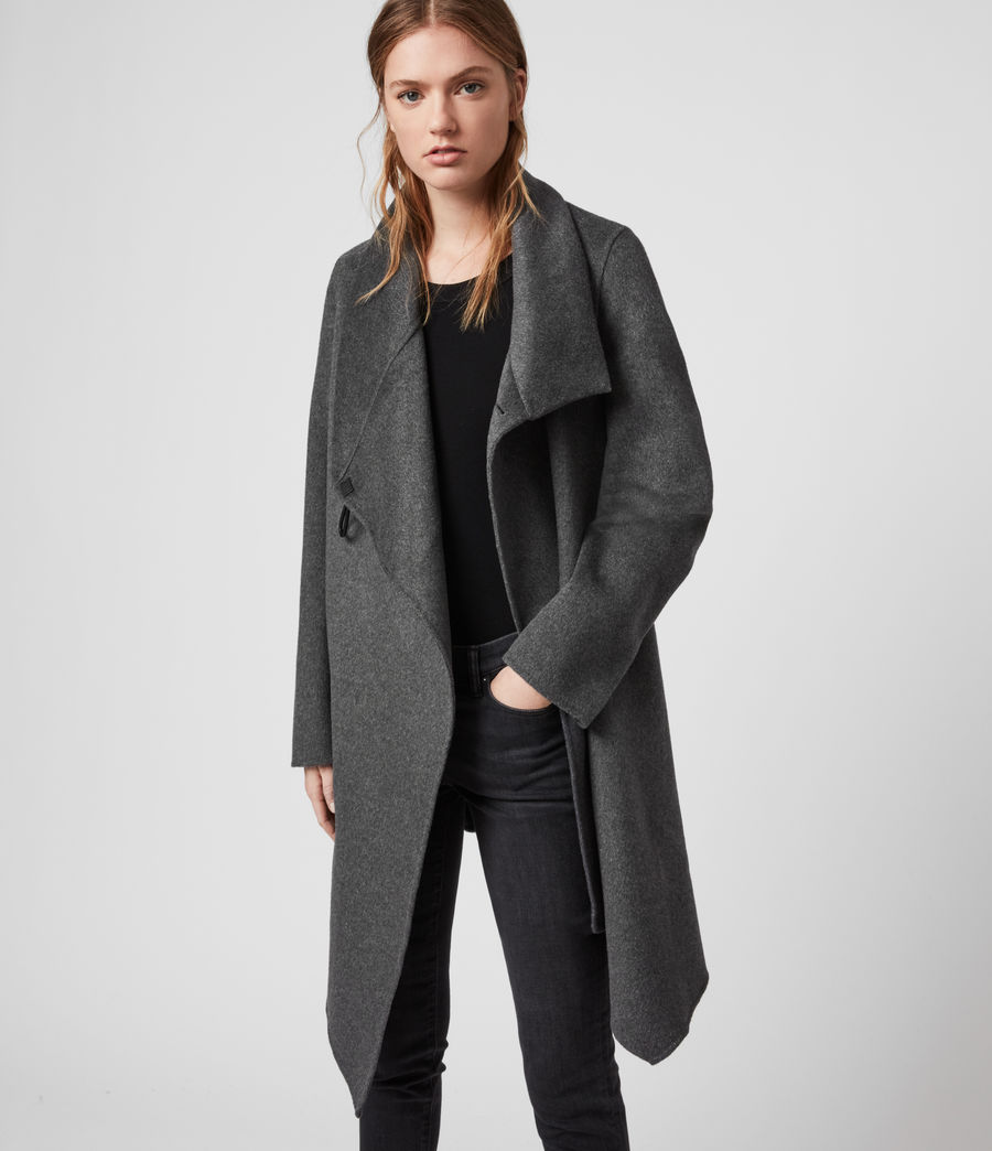 Womens Monument Eve Coat (charcoal_grey) - Image 1