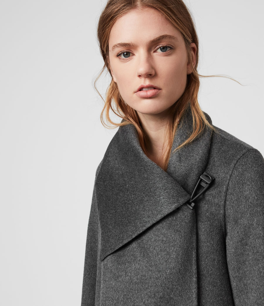 Women's Monument Eve Coat (charcoal_grey) - Image 2