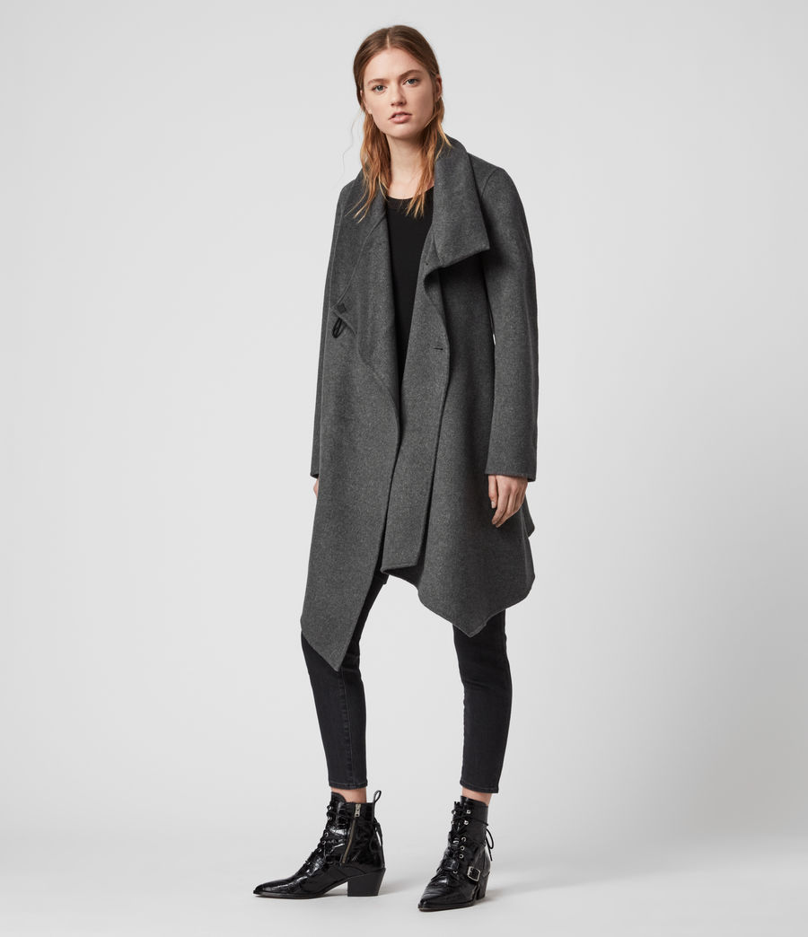 Womens Monument Eve Coat (charcoal_grey) - Image 3