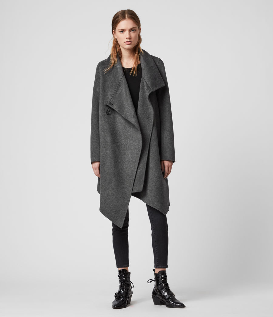 Womens Monument Eve Coat (charcoal_grey) - Image 4