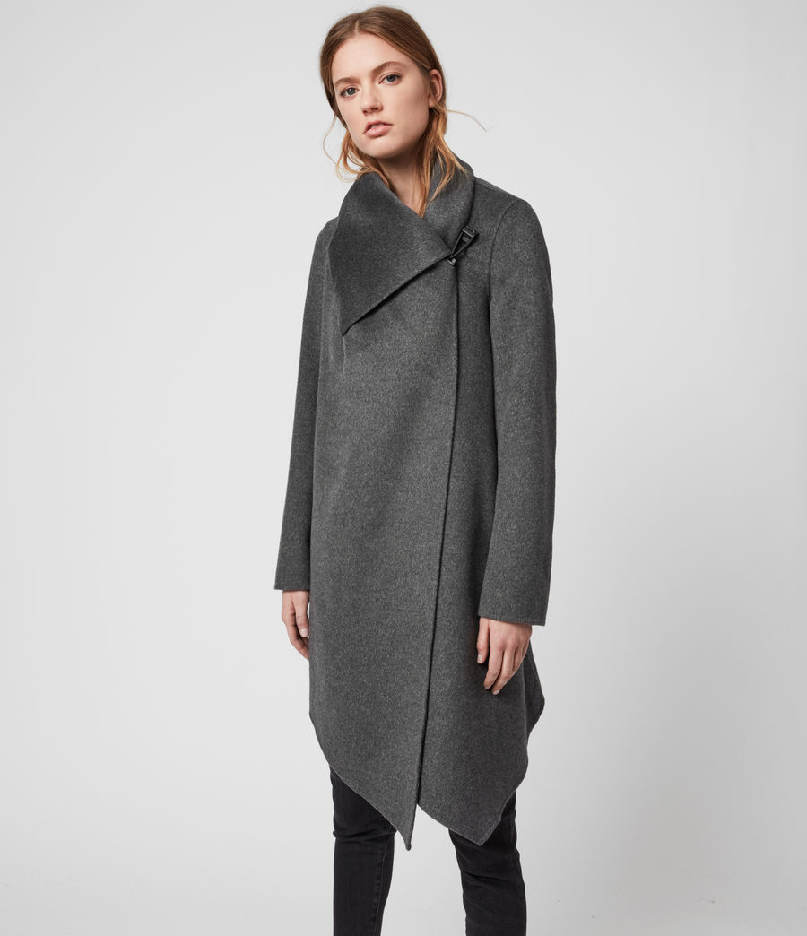 Womens Monument Eve Coat (charcoal_grey) - Image 5