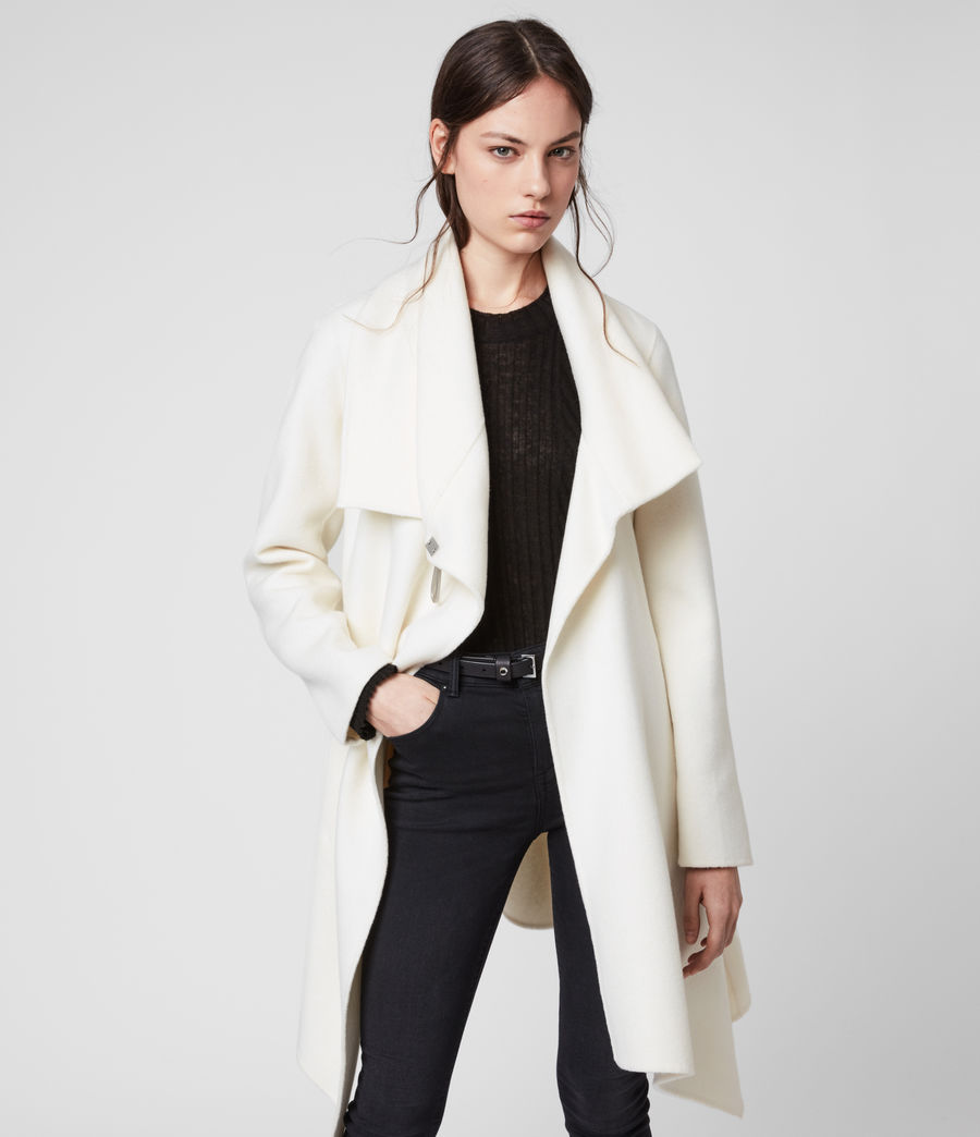 Womens Monument Eve Coat (porcelain_white) - Image 1