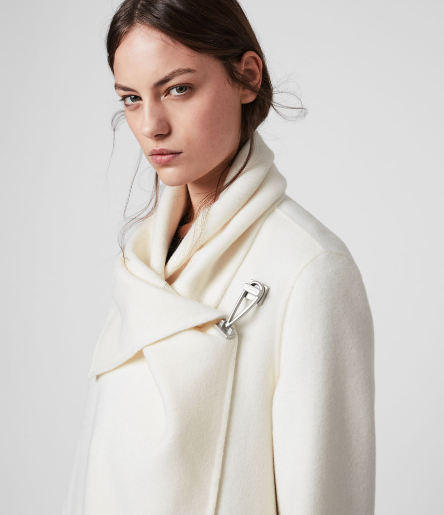 Womens Monument Eve Coat (porcelain_white) - Image 2