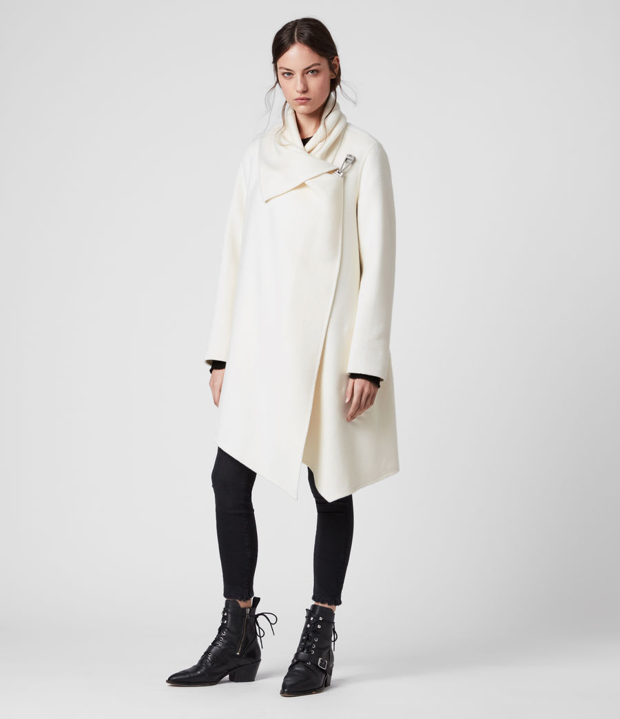 Womens Monument Eve Coat (porcelain_white) - Image 3