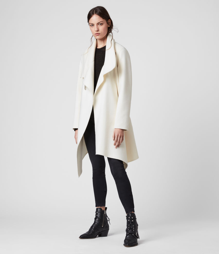 Womens Monument Eve Coat (porcelain_white) - Image 4