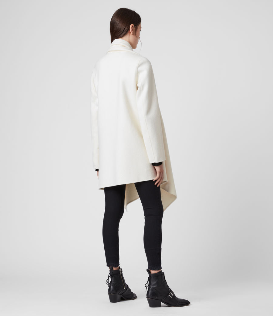 Womens Monument Eve Coat (porcelain_white) - Image 5