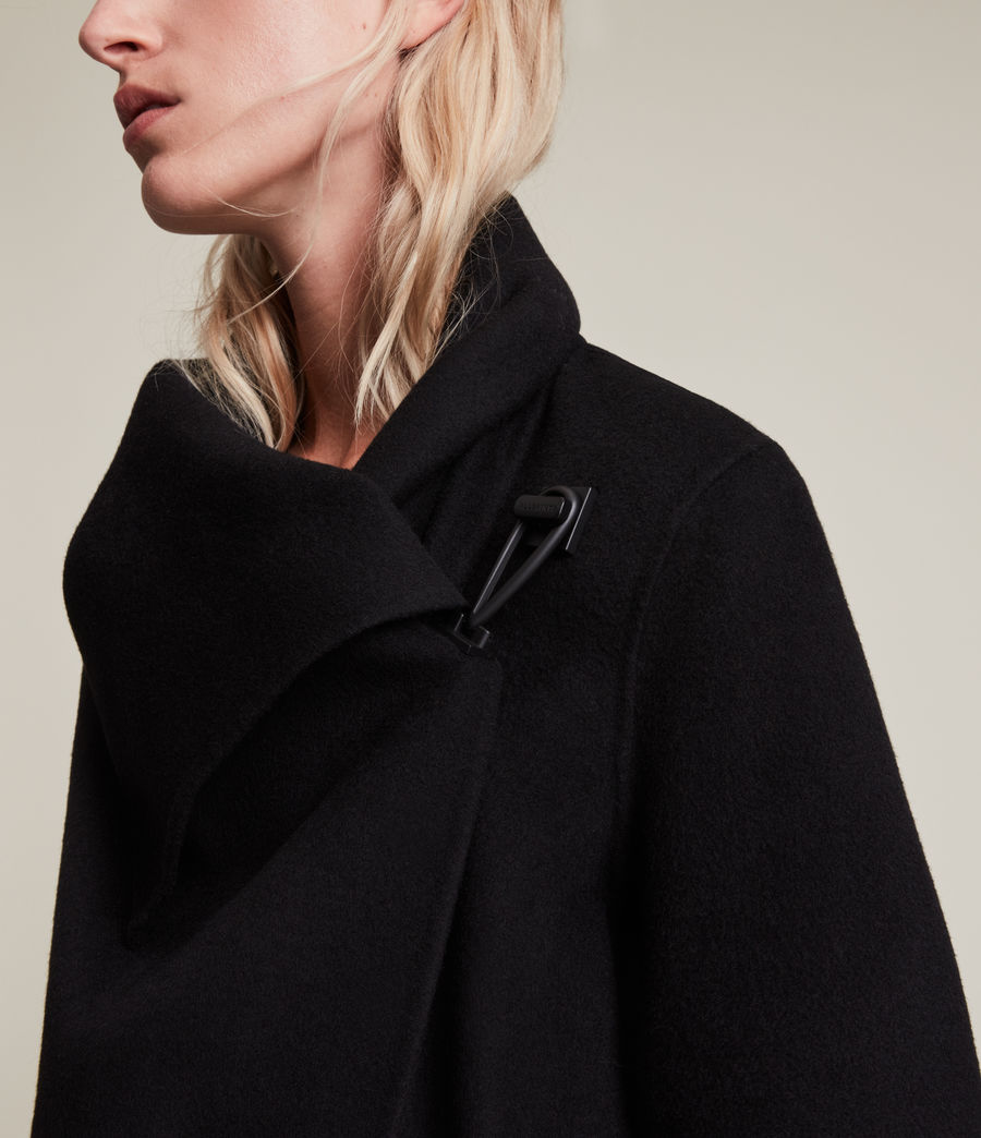 Womens Monument Eve Coat (black) - Image 2