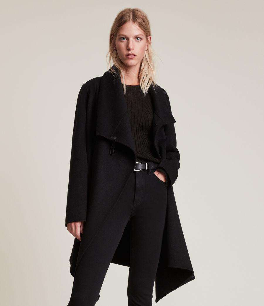 Womens Monument Eve Coat (black) - Image 3