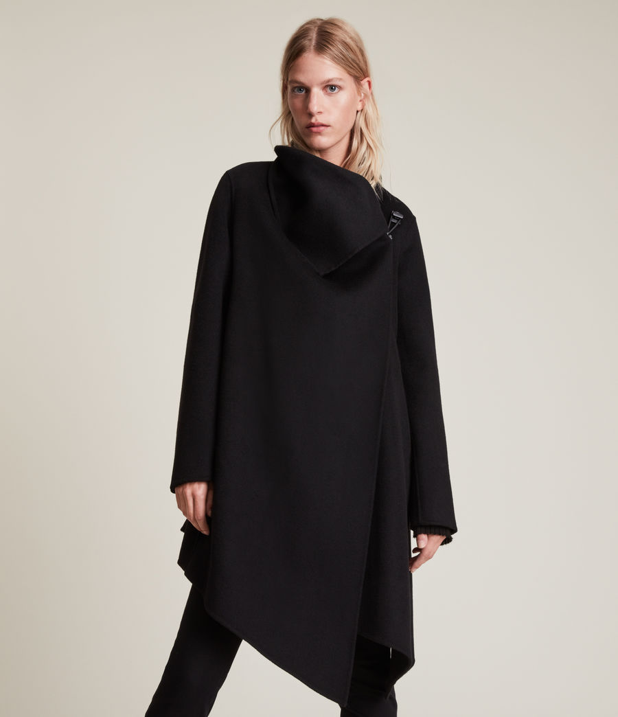 Women's Monument Eve Coat (black) - Image 4