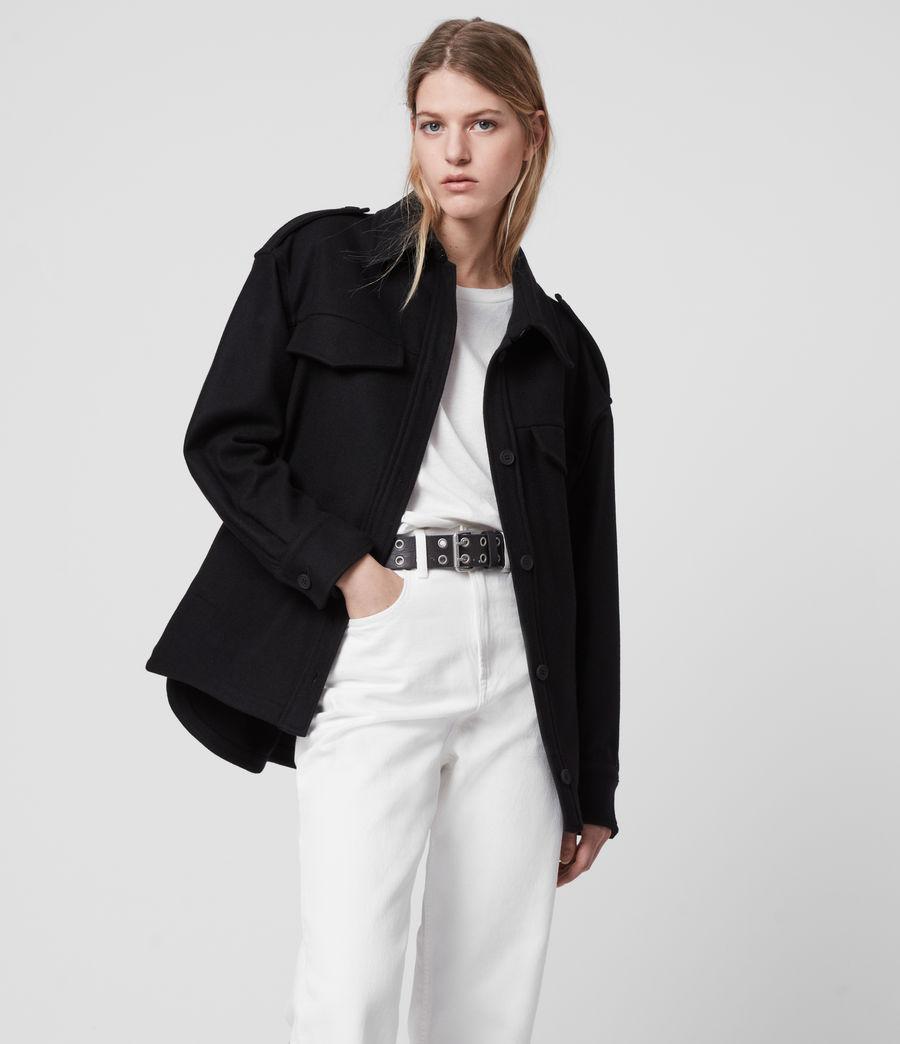 Womens Emery Cashmere Blend Jacket (black) - Image 1
