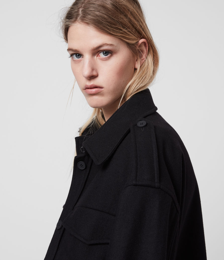Womens Emery Cashmere Blend Jacket (black) - Image 2