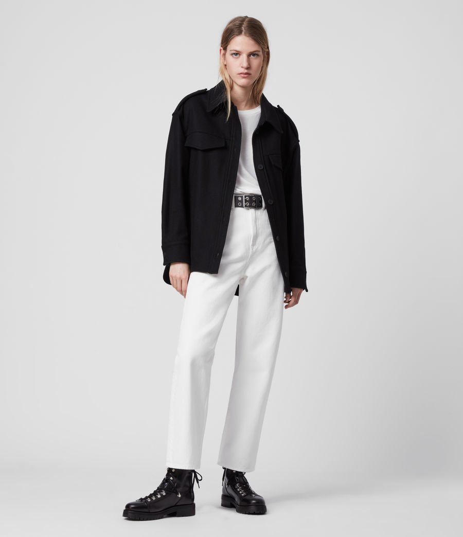 Womens Emery Cashmere Blend Jacket (black) - Image 3
