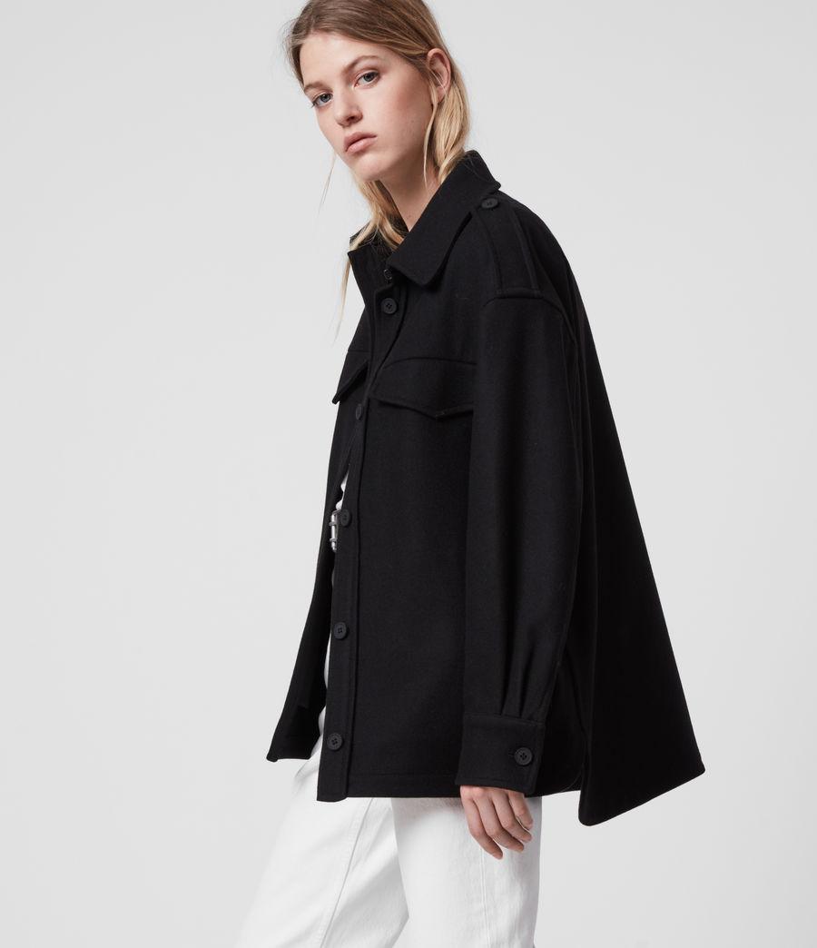 Womens Emery Cashmere Blend Jacket (black) - Image 4
