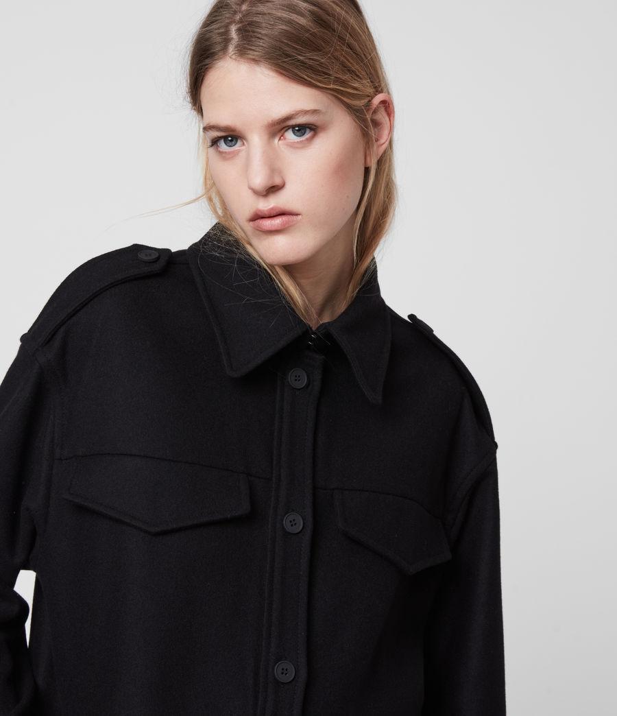 Womens Emery Cashmere Blend Jacket (black) - Image 5