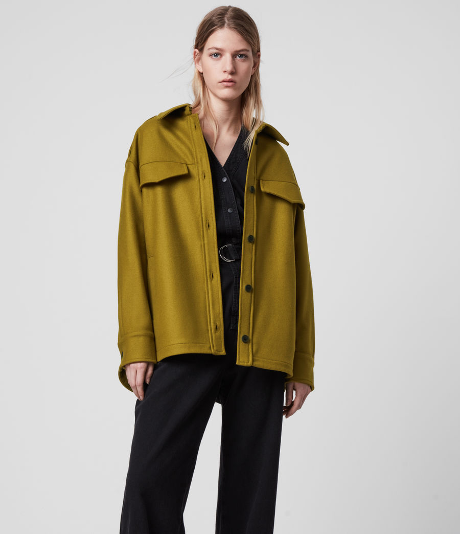 Women's Emery Cashmere Blend Jacket (pear_green) - Image 1