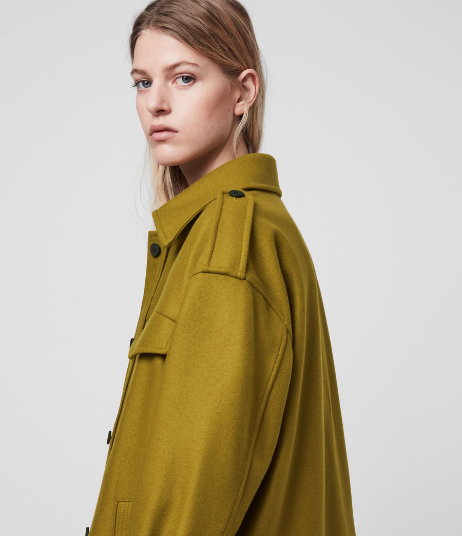 Women's Emery Cashmere Blend Jacket (pear_green) - Image 2