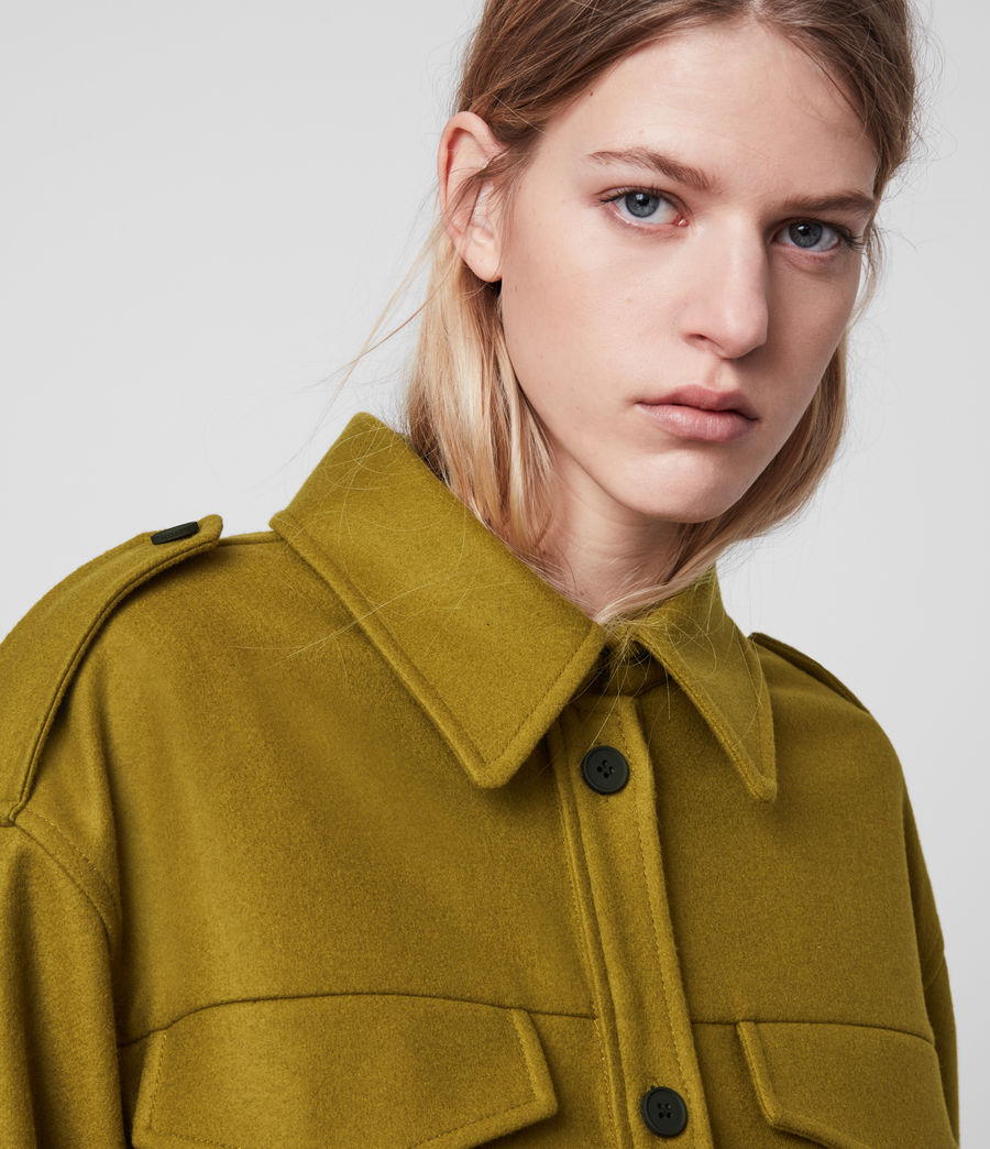 Women's Emery Cashmere Blend Jacket (pear_green) - Image 3