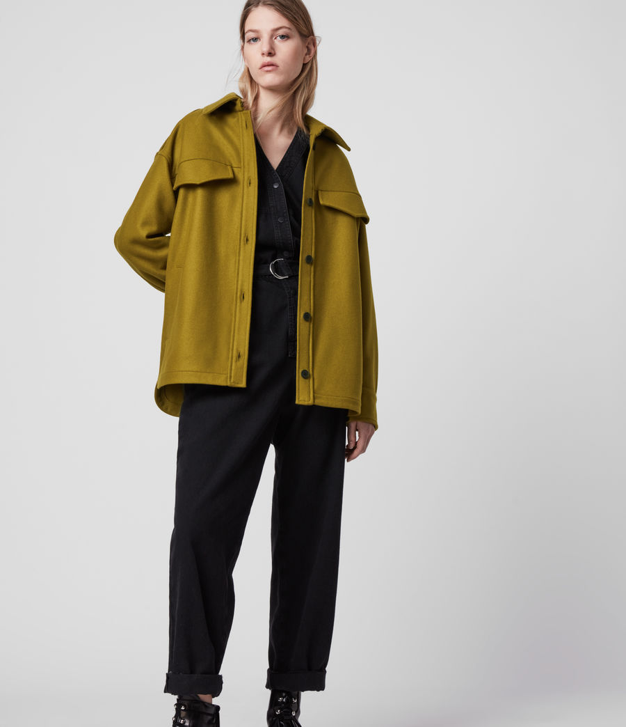 Women's Emery Cashmere Blend Jacket (pear_green) - Image 4