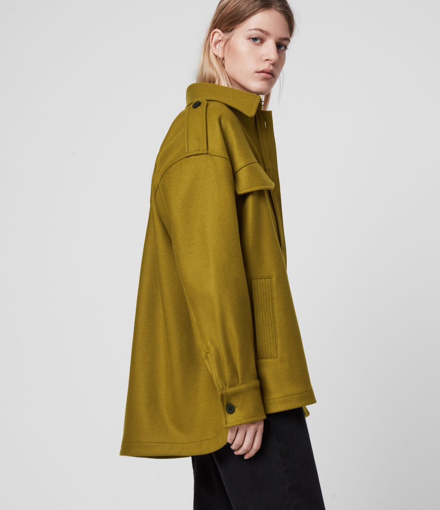 Women's Emery Cashmere Blend Jacket (pear_green) - Image 5