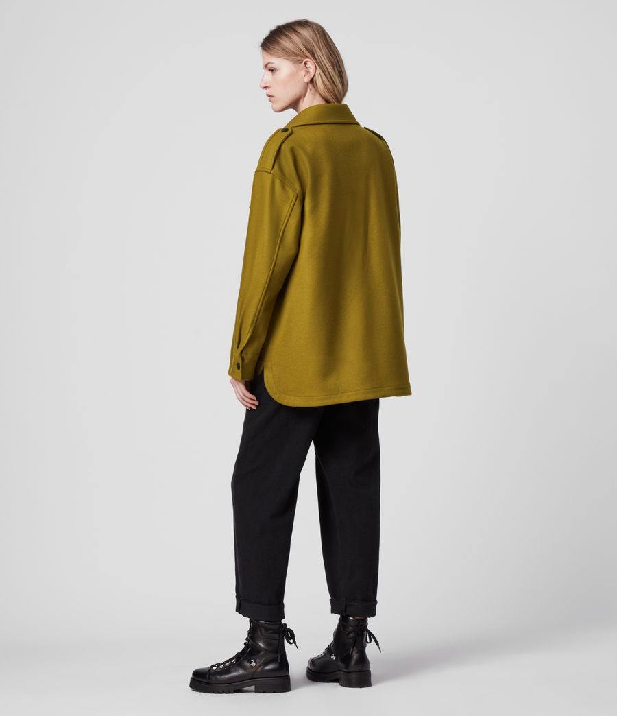 Women's Emery Cashmere Blend Jacket (pear_green) - Image 6
