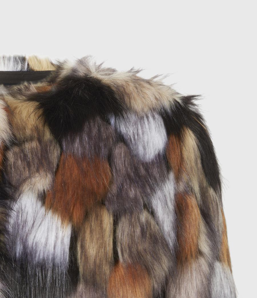 Women's Fifi Faux Fur Patch Jacket (beige_gold) - Image 5