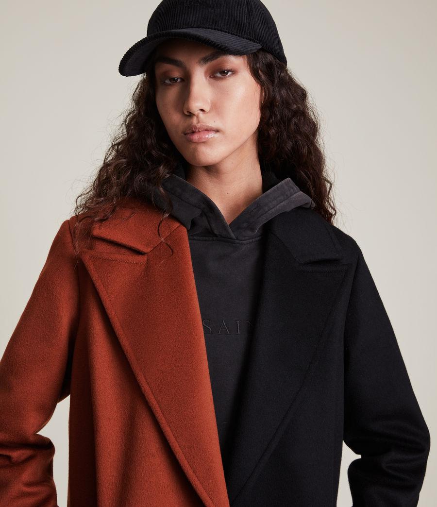 Women's Mabel Wool Blend Coat (brown_black) - Image 2