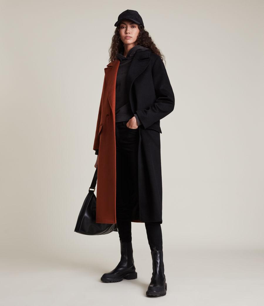 Women's Mabel Wool Blend Coat (brown_black) - Image 3