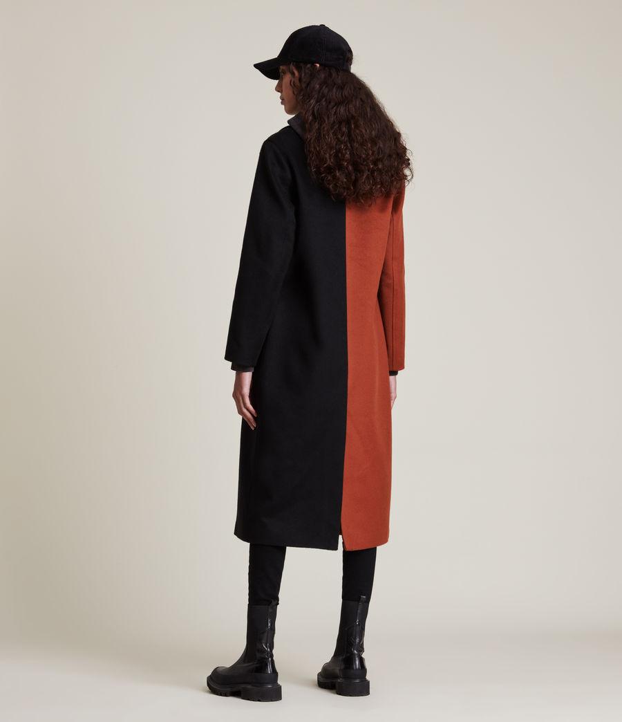 Women's Mabel Wool Blend Coat (brown_black) - Image 5
