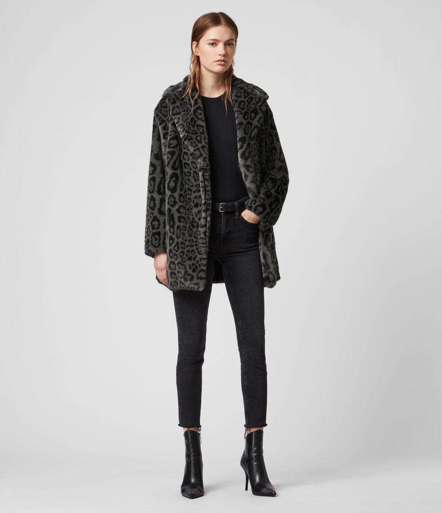 Womens Amice Leopard Jacket (grey) - Image 1