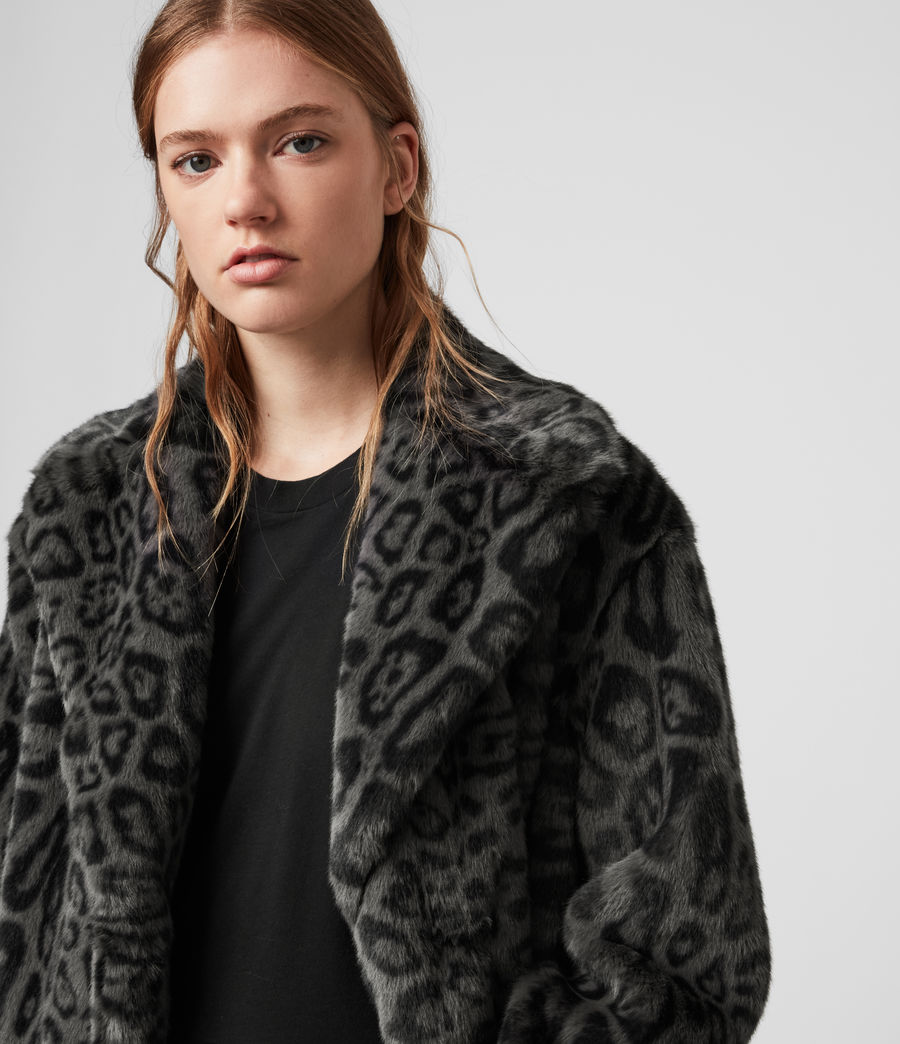 Womens Amice Leopard Jacket (grey) - Image 2