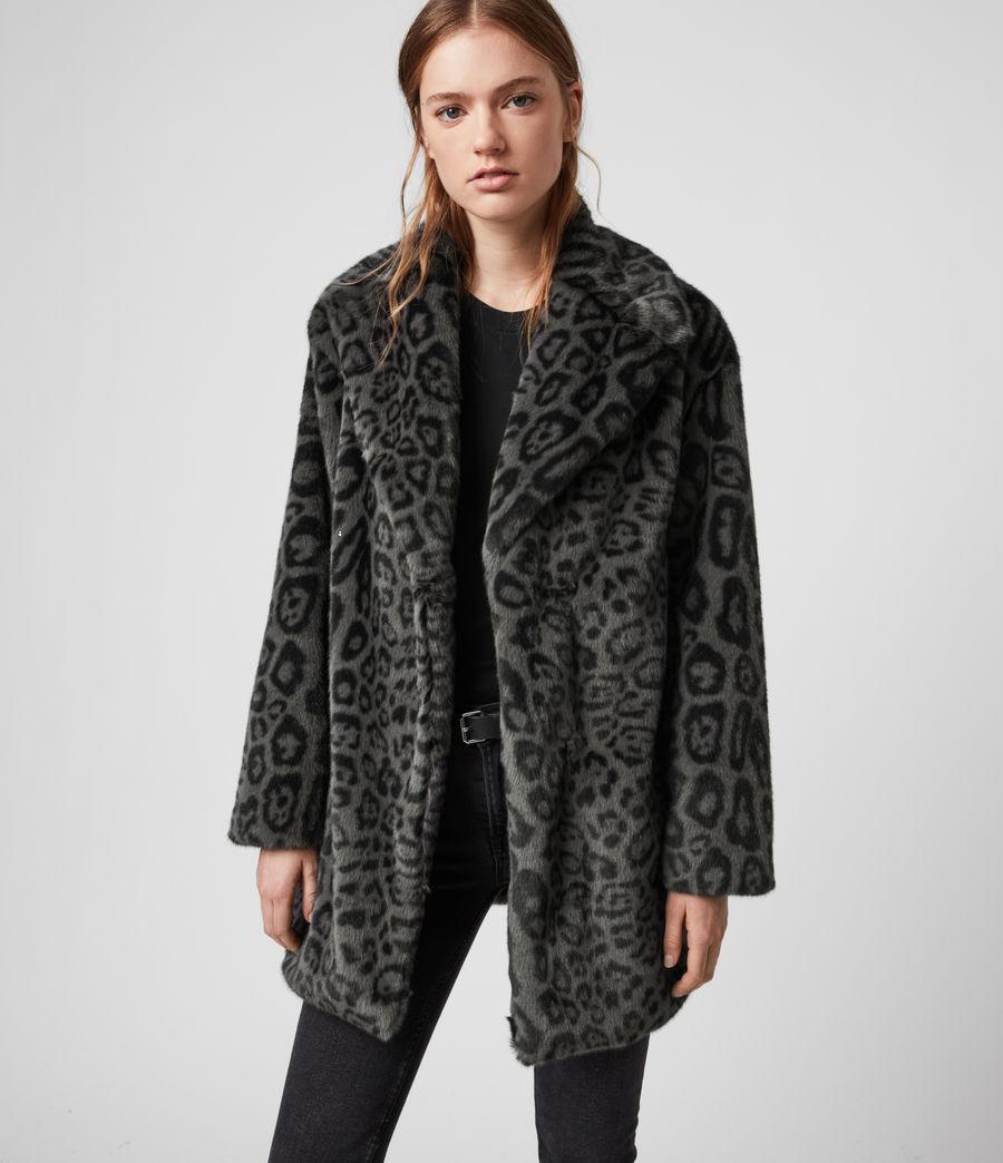 Womens Amice Leopard Jacket (grey) - Image 3