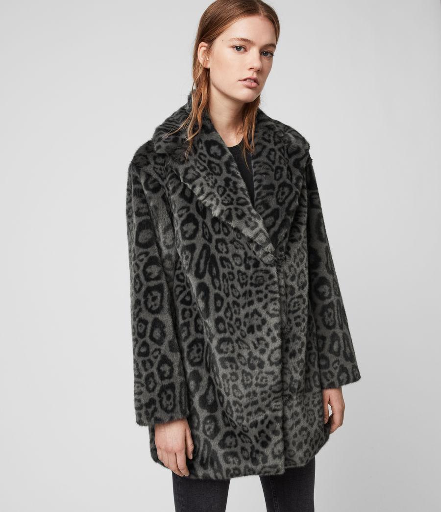 Womens Amice Leopard Jacket (grey) - Image 4