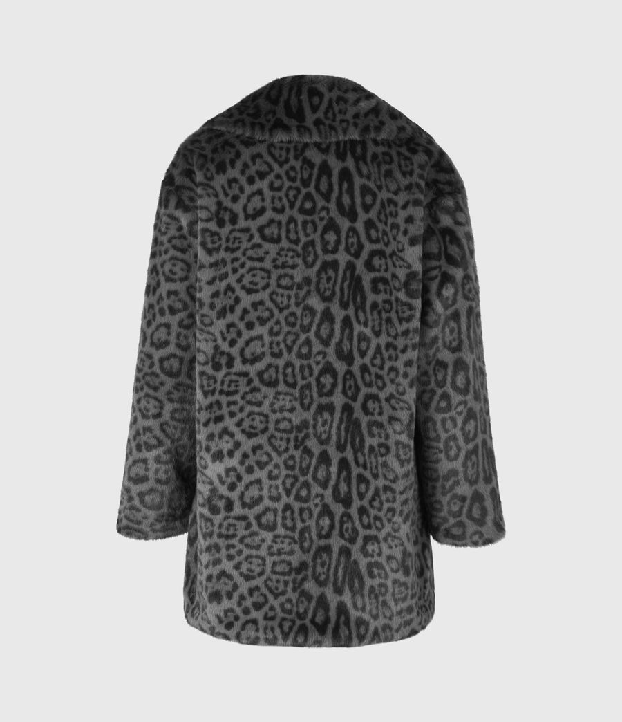 Womens Amice Faux Fur Leopard Jacket (grey_black) - Image 3