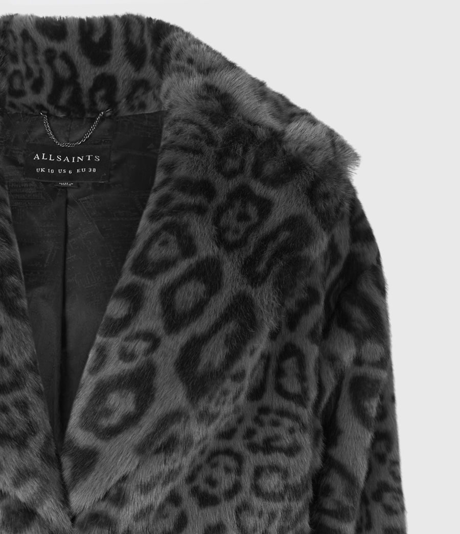Womens Amice Faux Fur Leopard Jacket (grey_black) - Image 5