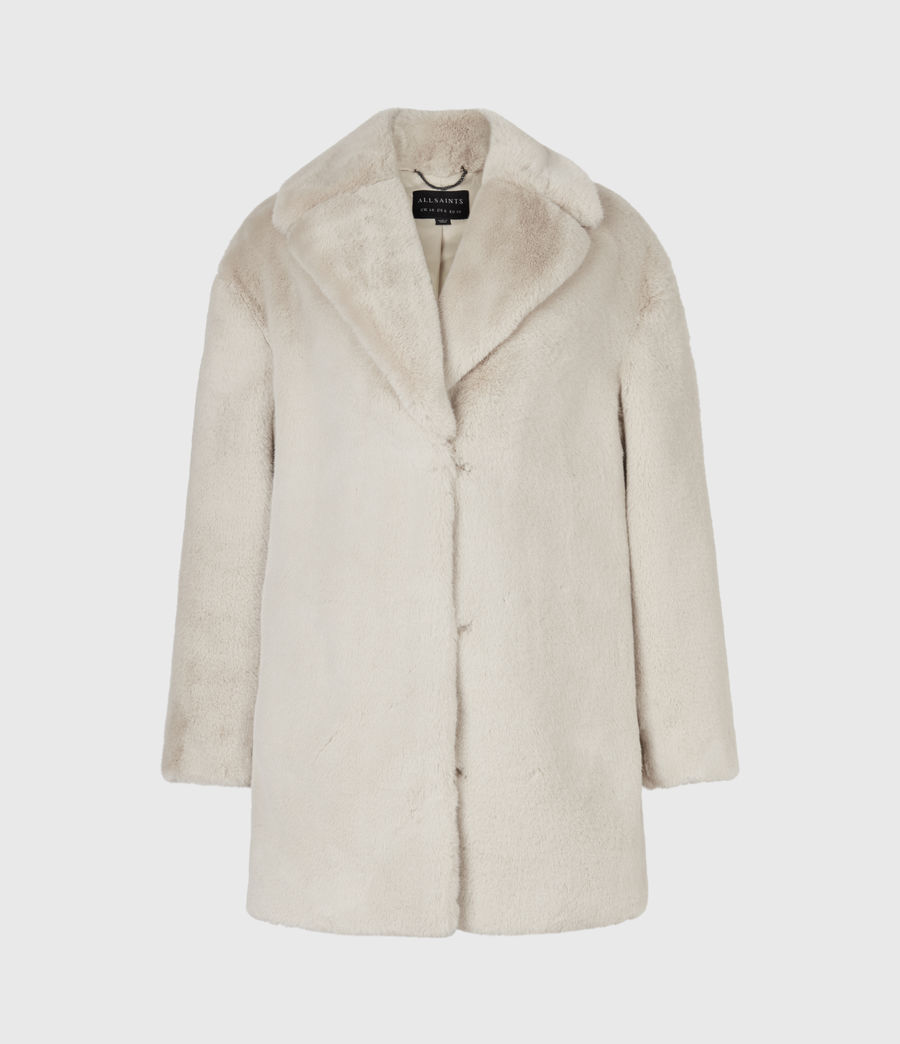 Womens Amice Faux Fur Jacket (alpaca_white) - Image 2