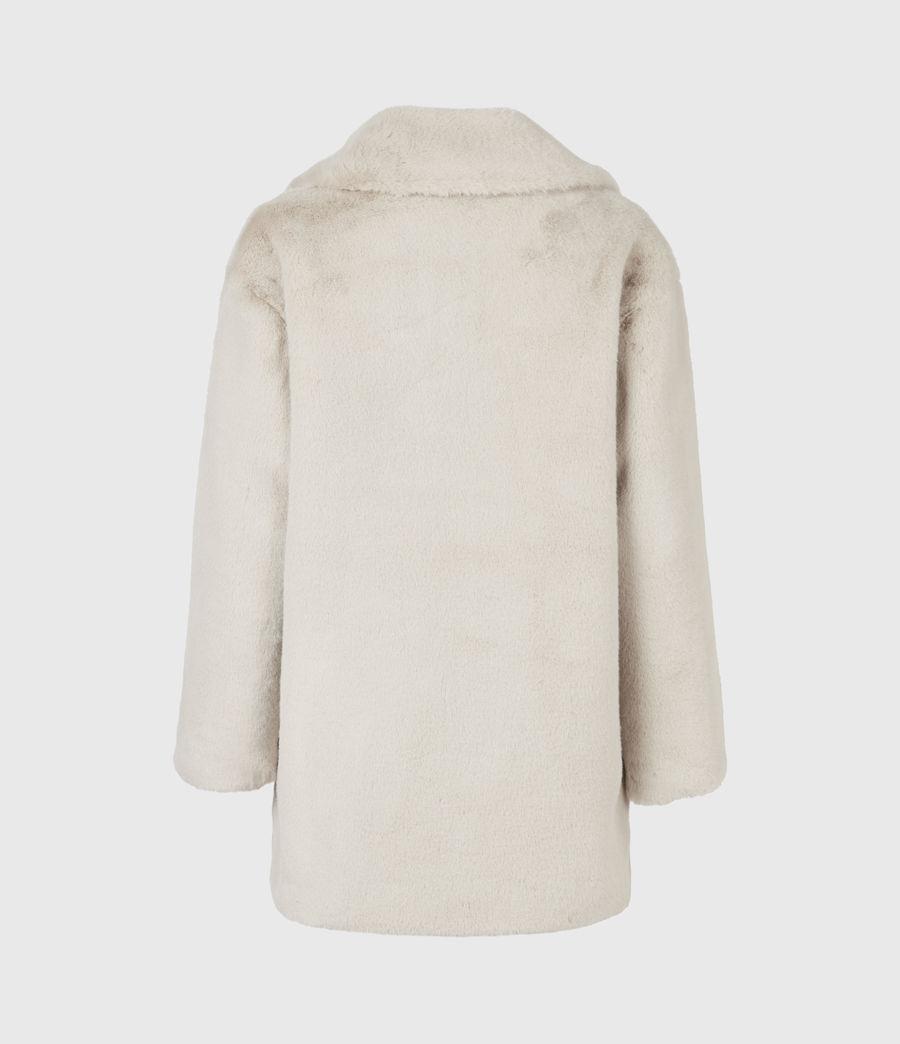Womens Amice Faux Fur Jacket (alpaca_white) - Image 3