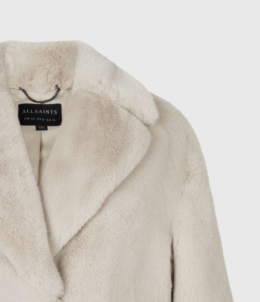 Womens Amice Faux Fur Jacket (alpaca_white) - Image 4