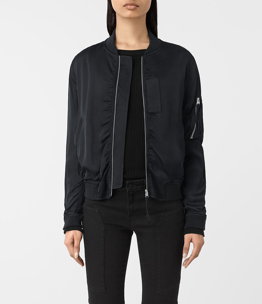 ALLSAINTS IT  Donna Bomber Kuma (ink blue) ad0593a6c274