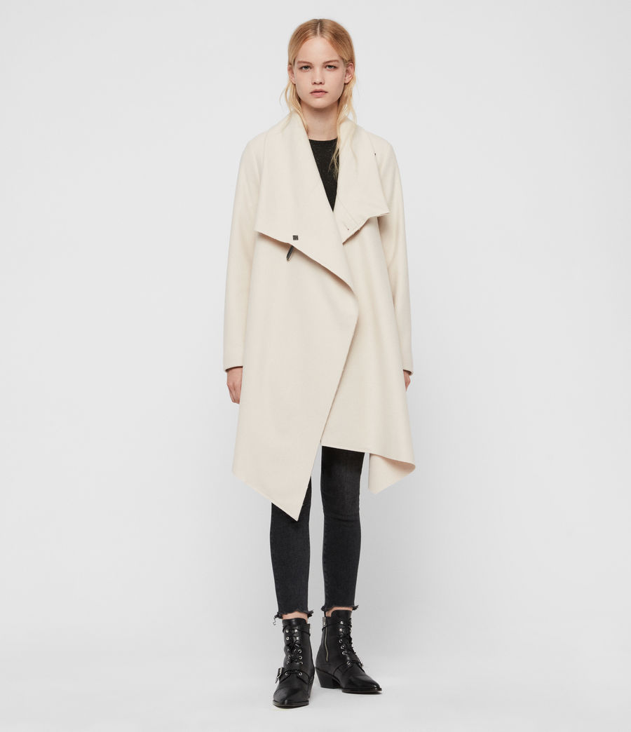 Womens City Monument Coat (oyster_white) - Image 1