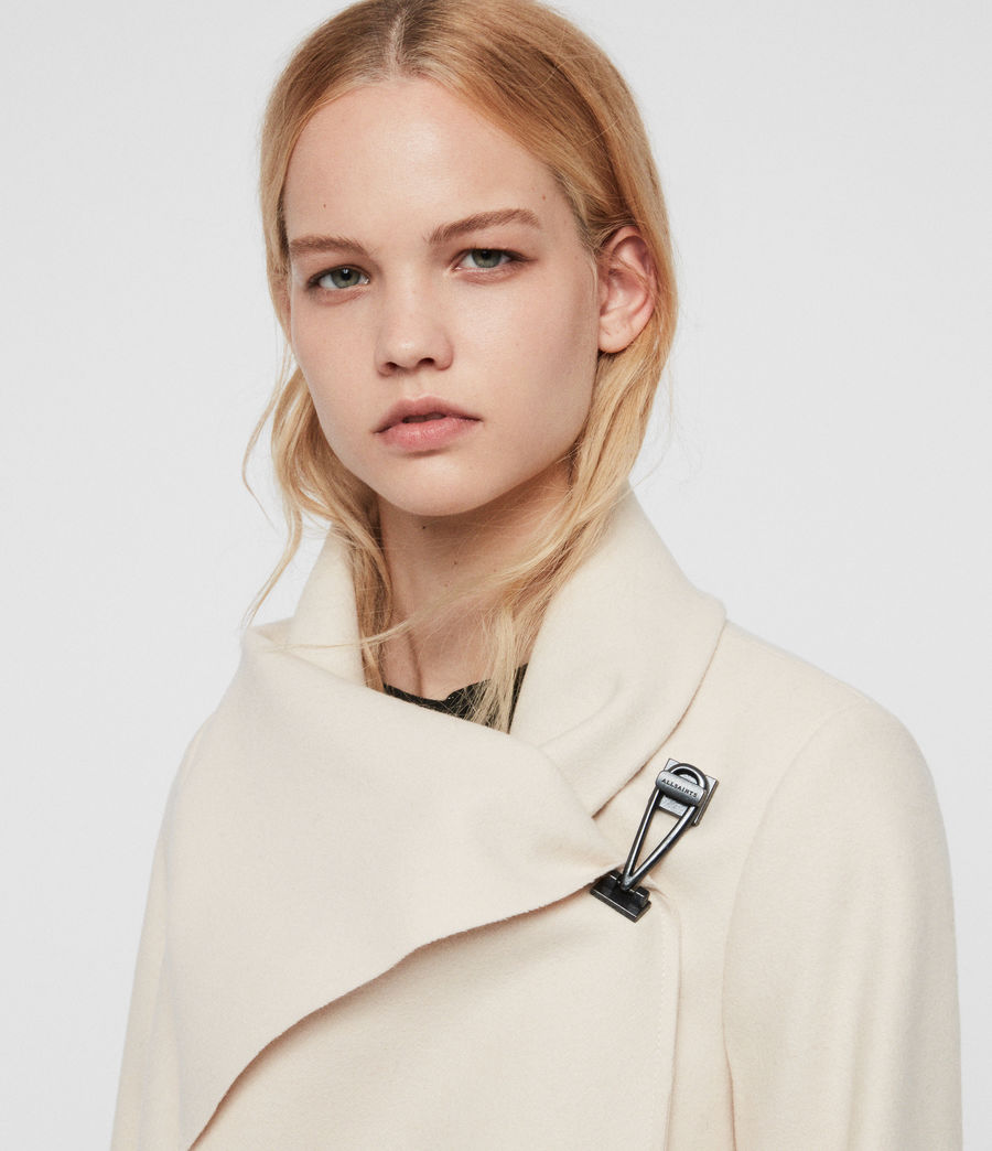 Damen City Monument Coat (oyster_white) - Image 2