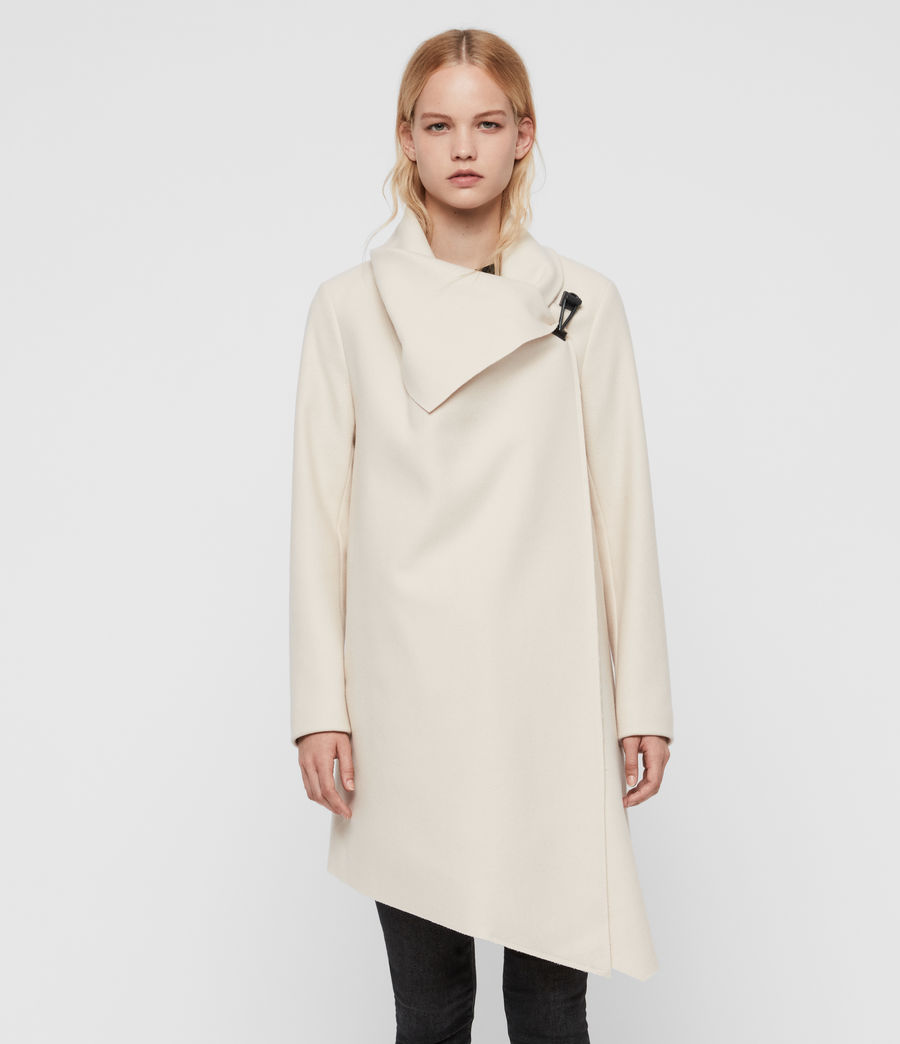 Damen City Monument Coat (oyster_white) - Image 3