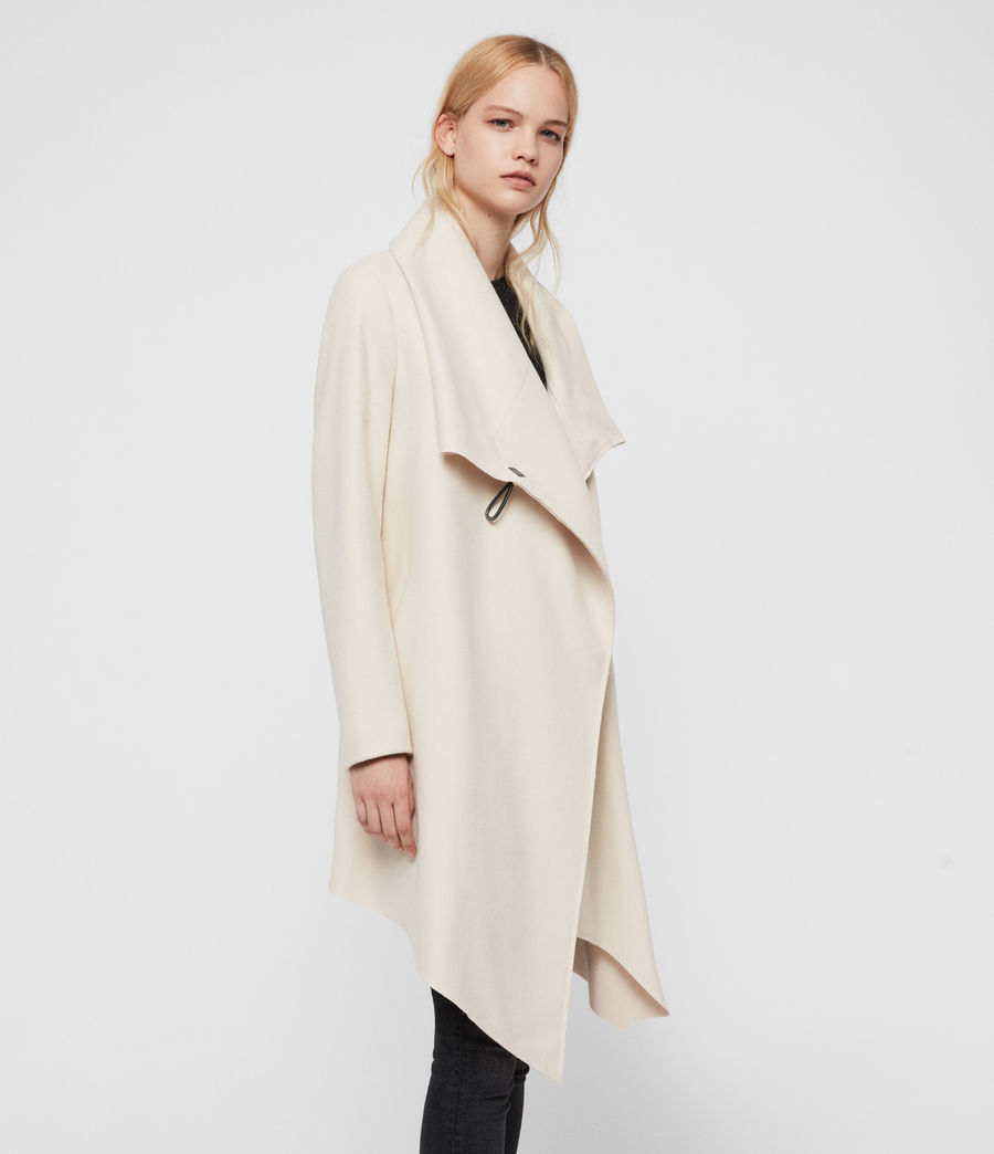 Women's City Monument Coat (oyster_white) - Image 4