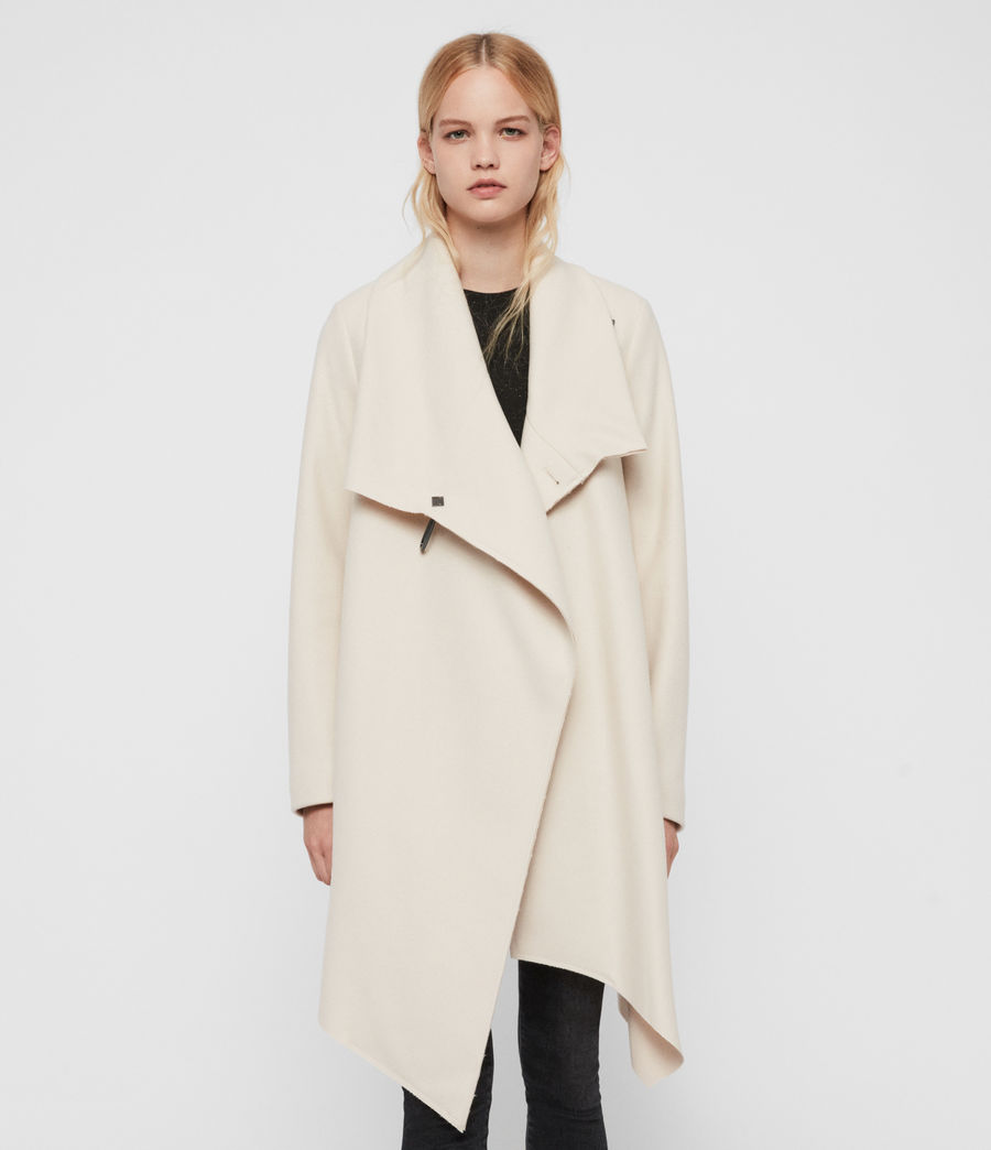 Womens City Monument Coat (oyster_white) - Image 4