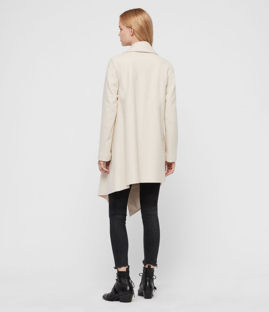 Womens City Monument Coat (oyster_white) - Image 5