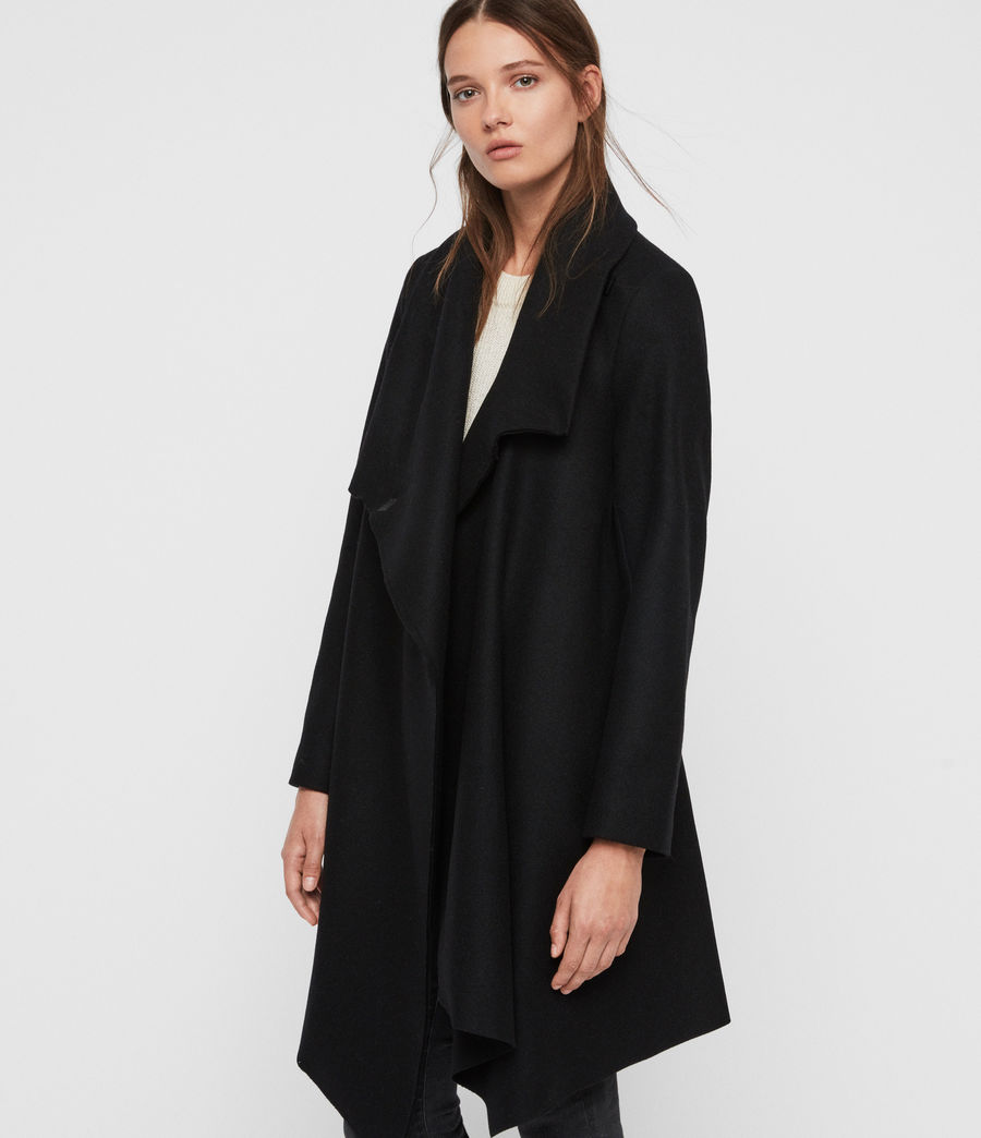 Womens City Monument Coat (black) - Image 4