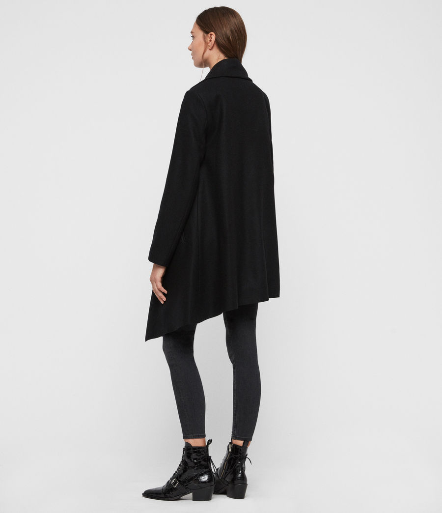 Womens City Monument Coat (black) - Image 6