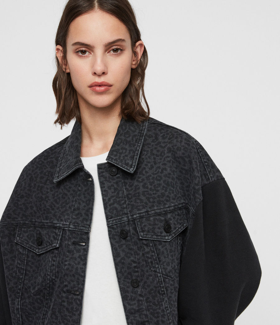 Women's Anders Leo Denim Jacket (washed_black) - Image 1