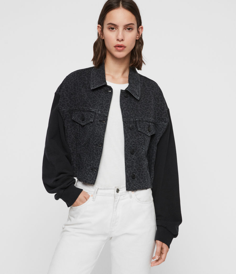 Womens Anders Leo Denim Jacket (washed_black) - Image 2