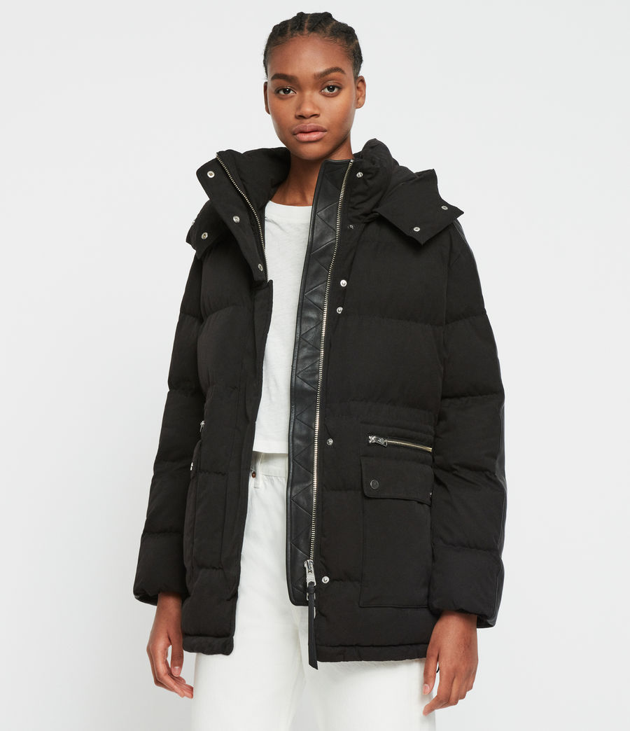 Womens Kyle Parka Puffer Coat (black) - Image 3