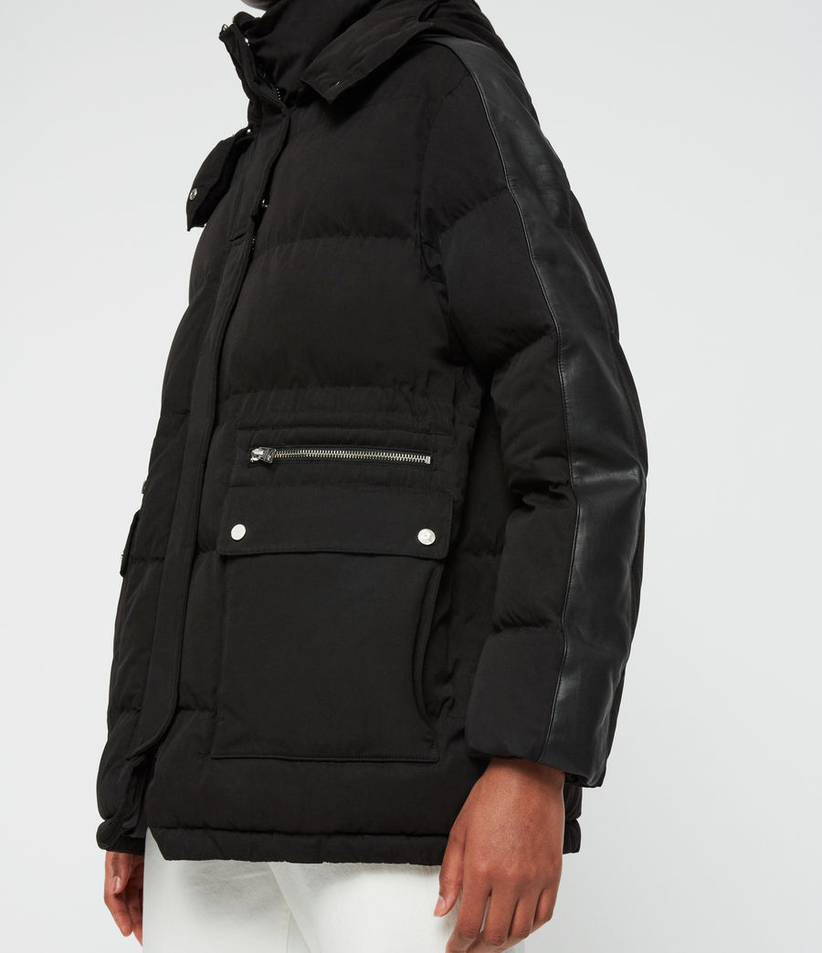 Womens Kyle Parka Puffer Coat (black) - Image 4